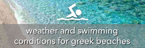 Greek beaches weather and swimming conditions forecasts